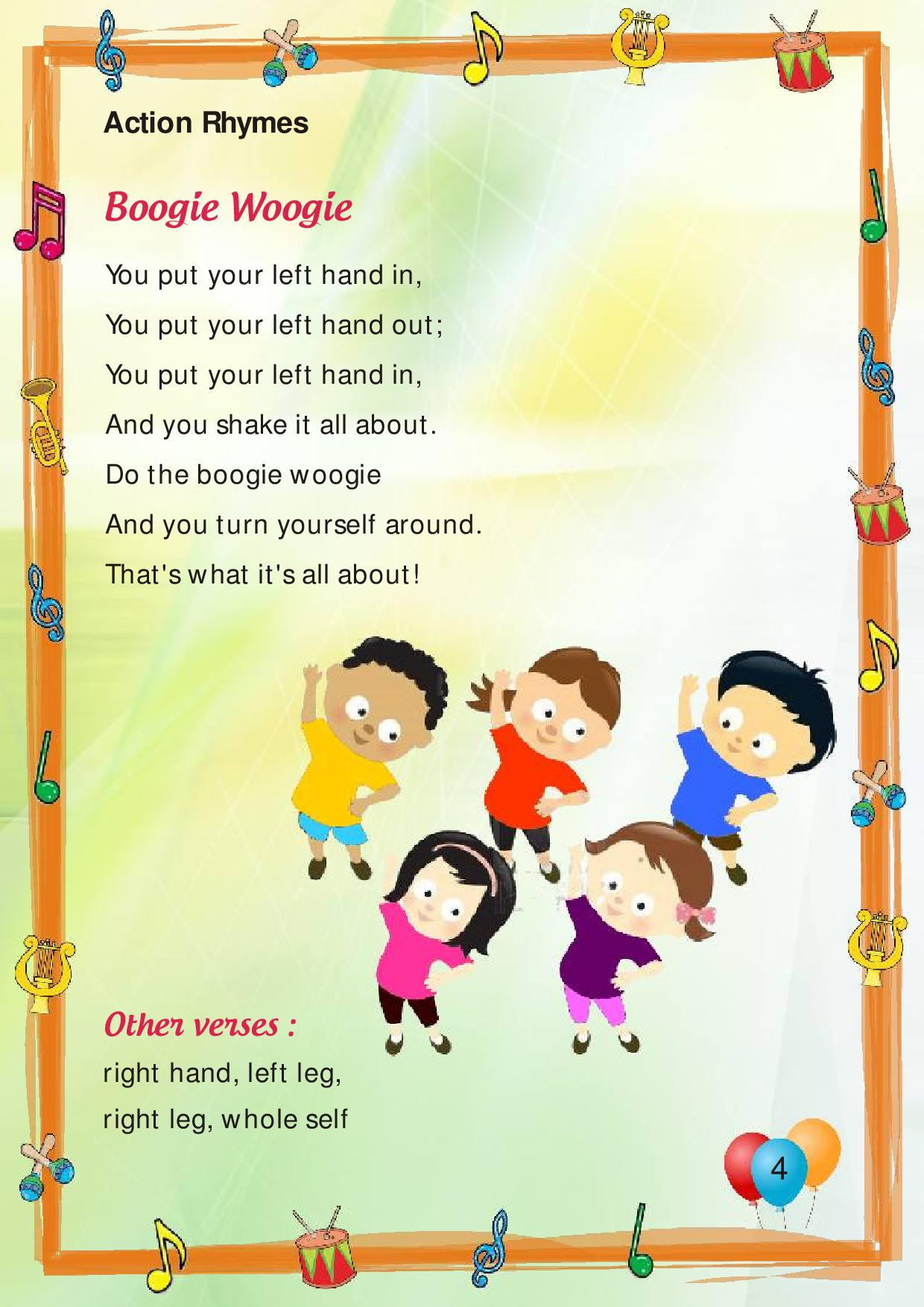 Here following are the some interesting and useful rhymes for your ...