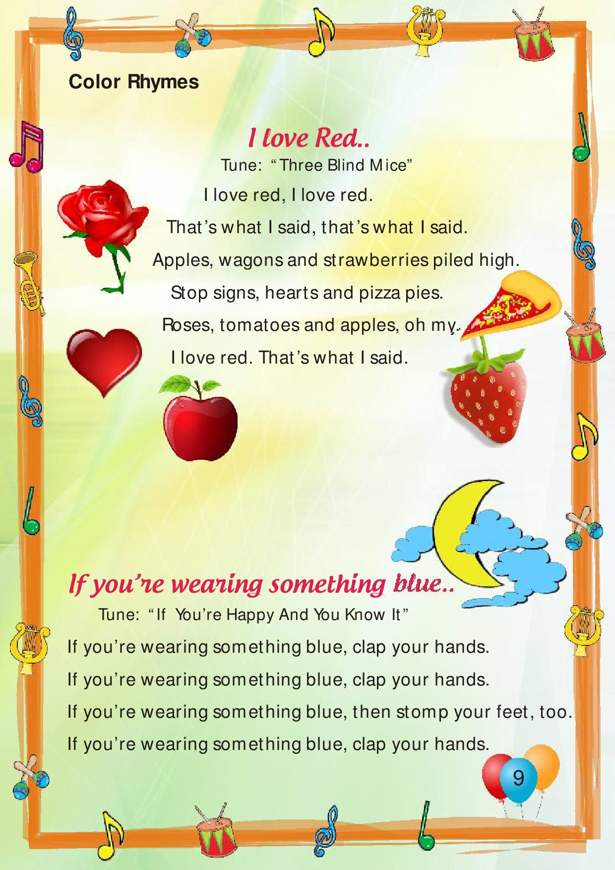 Poems Asis Pre Primary