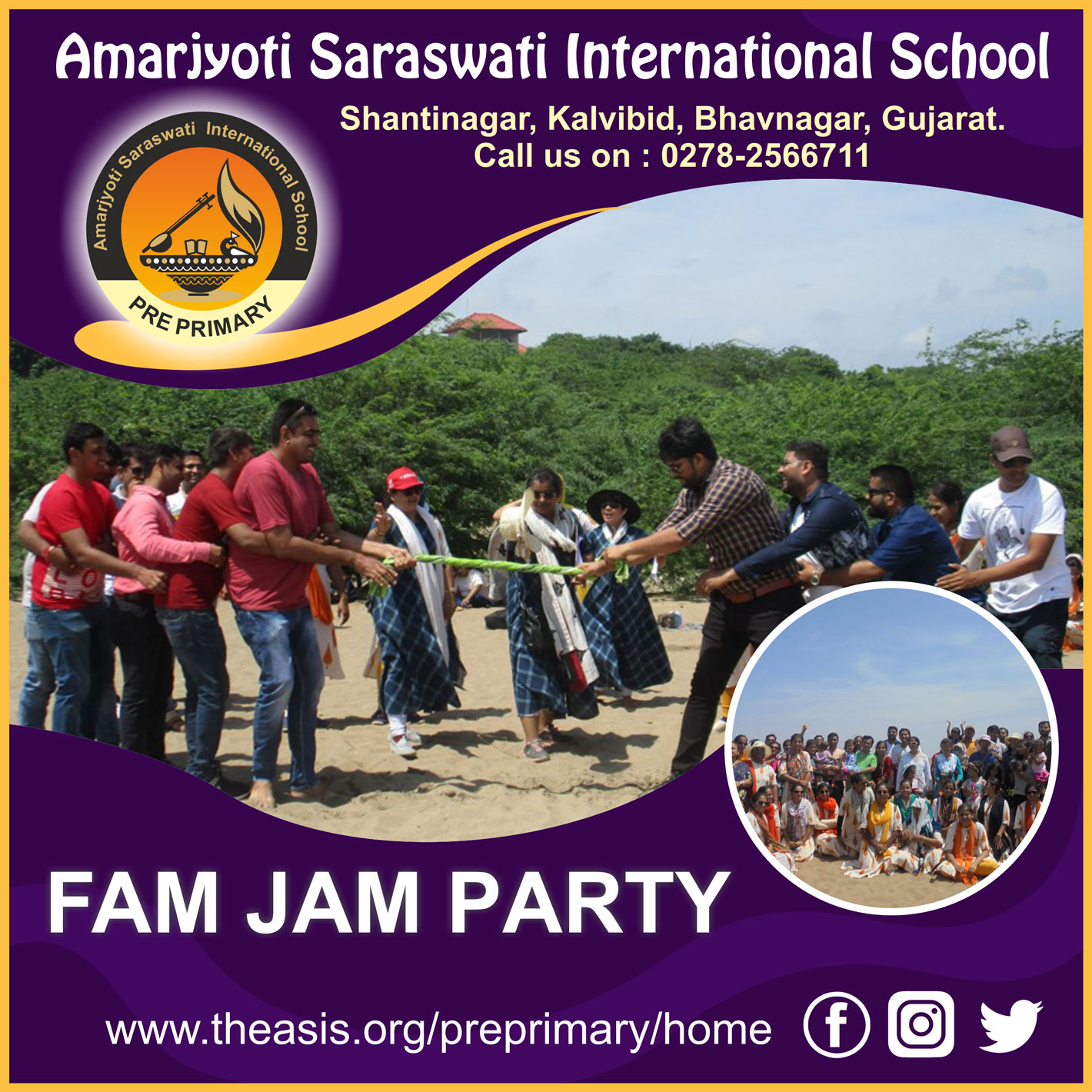 Fam Jam party Amarjyoti Saraswati International School Amarjyoti Gohil Ankit Akolkar The ASIS Group