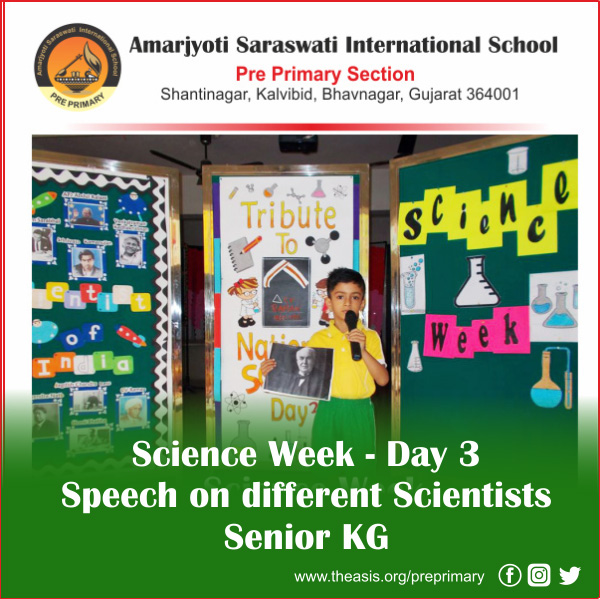 Day 3 Speech on different Scientists - Senior KG